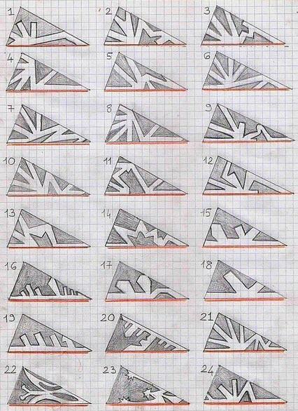 Beliebt Verschiedene Schneeflocken aus Papierentwürfen. Schneeflocken aus BL33